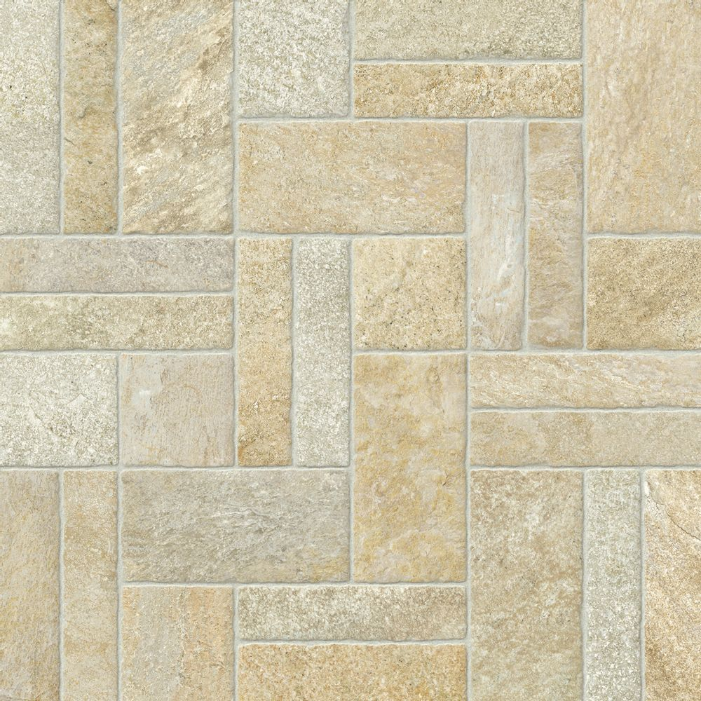 Piso cer mico lef pedras tunisia r stico 57x57 revesteonline for Mosaico ceramico exterior