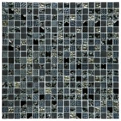 PASTILHA-GLASS-MOSAIC-D1012-DIAMOND-PRETO-31X31