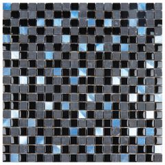 PASTILHA-GLASS-MOSAIC-PGS200-GLASS-STONE-PRETA-METAL-AZULADO-31X31