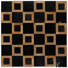 PASTILHA-GLASS-MOSAIC-MR34-MARMORE-NEGRO-MAQUINA-WOOD-YELLOW-305X305