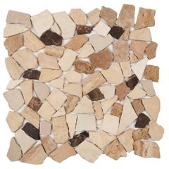 PASTILHA-GLASS-MOSAIC-MR200-MARMORE-CREMA-MARFIL-TRAVERTINO-MARROM-IMPERADOR-MATTE-305X305