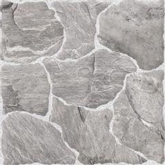 Piso Cerâmico Rox Pietra Pedra Gray Rústico 44x44